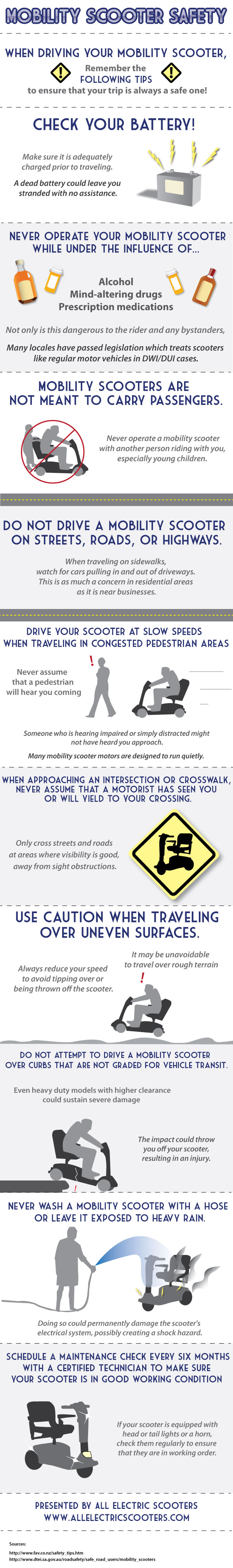 Mobility Scooter Safety Infographic