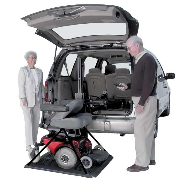 electric scooter lifts inside vehicle scooter lifts hybrid platform vehicle lift. Black Bedroom Furniture Sets. Home Design Ideas